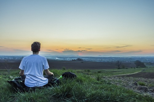 瞑想 草原